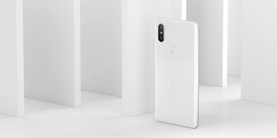 Xiaomi mi mix 2s wit staand