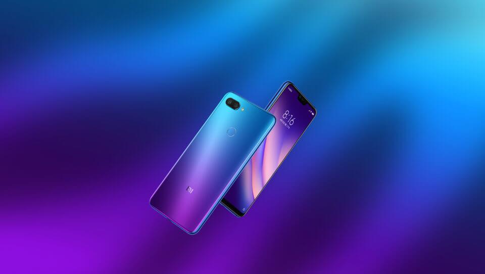 Xiaomi mi8 lite blauw paars