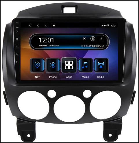 Android autoradio met fascia voor de Mazda 2 2007/2012